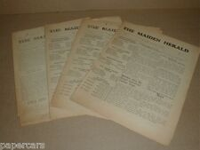 The Maiden NC Herald Lot 4 Vintage 1946 Newspapers North Carolina old ads Rare