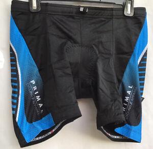 Primal Wear Cycling Fit Kit Woman Tri Short Triathlon Shorts Black Blue Size XL