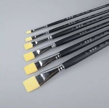 XDT#101 Square Artist Paint Brush Art Panting Brushes 6pc Watercolor Acrylic Oil