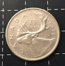 1978 CANADA 25 CENTS COIN - CANADIAN 25 CENT EF