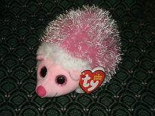 "TY BEANIE * MRS. PRICKLY * 6"" Pink Hedgehog * Retired *RARE* HTF * MWMT * '15"