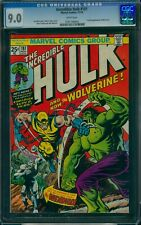Incredible Hulk #181 CGC 9.0 WHITE pages old label (1974) 1st Wolverine!