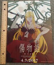 Kizumonogatari Teil 3 reiketsu Special USA Premiere Portrait Poster + Gratis Flyer