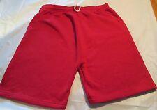 Jogging Sweat Short Size Medium Red 1 Back pocket 50 Cotton/50 Polyester