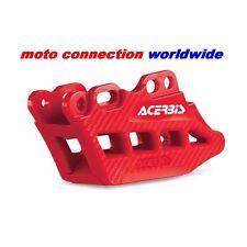 Nuevo bloque de guía de cadena Acerbis Rojo Trasero con efecto de Carbono para Honda CRF450 2014