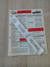 FICHE TECHNIQUE AUTOMOBILE RTA AUDI A6 2.7 V6 BITURBO QUATTRO (n°16)