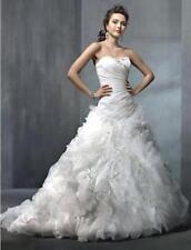 ALFRED ANGELO $1499 2311C WHITE 10 ORGANZA CORSET WEDDING DRESS BRIDAL BALLGOWN