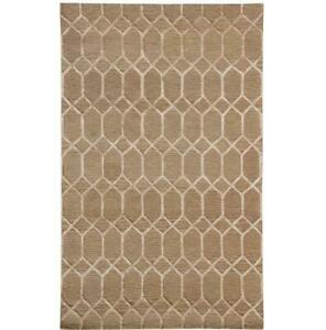 5x8 Young decor brown Hand Knotted Contemporary Rug B-75286