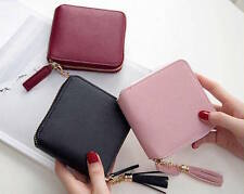 New Ladies mini wallet Split leather wallet for women with tassel detail