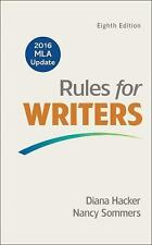 Rules for Writers with 2016 MLA Update by Hacker, Diana, Sommers, Nancy