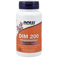 DIM 200mg with Calcium D-Glucarate 90 Caps Now Foods Non-GMO