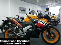 Honda CBR 125 Repsol Sport motorcycle motorbike commuter 125cc