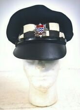 More details for vintage london fire brigade officer peaked cap (army war department)