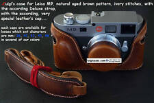 LUIGI'S CASE+STRAP+CAP  LEICA MM,M9,M-E,NATURAL AGED BROWN,NO DOOR TYPE,+DHL....