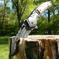"""9"""" SPRING ASSISTED OPEN Tactical Blade Folding POCKET KNIFE Wood Steampunk"""