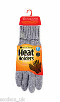Heat Holder - Ladies Cable Knit 2.3 Tog Thermal Heat Weaver Winter Gloves S/M