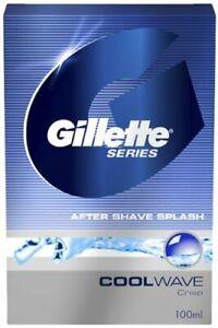 Pack of 1, Cool Wave After Shave Splash From Gillette Series - 100 ml - FShip