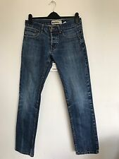 "Men's Topman Moto Dark Indigo Blue Skinny Jeans Size W32"" L32"""