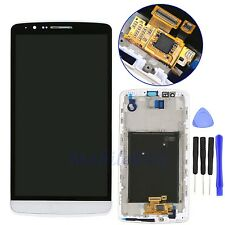 White For LG G3 D850 D851 D855 LCD Display Touch Digitizer Screen Assembly+Frame
