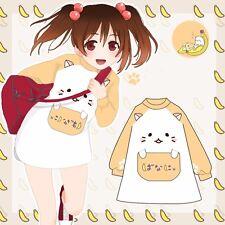 Anime Bananya Banana Cat Cosplay Long Sleeve Shirt Outwear Lovely Girl Cute Coat