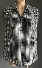 Maternity H&M MAMA Black & White Gingham Check Blouse Size L (16 - 18)