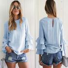 Plus la taille des femmes manches longues chemise en mousseline t-shirt huat SP