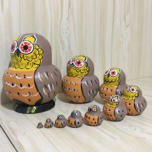 Cute Wooden Russian Nesting Dolls Babushka Matryoshka Toys