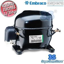 3S MOTORE Compressore FRIGO gas R134A 1/3 Hp 10 cm3 Embraco Aspera NEK6187Z NEW