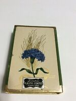 Vintage Duratone Plastic Coated Playing Cards - Flower