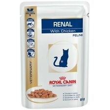 Royal Canin Veterinary Diet Renal Cat-Wet Food 6x85g Chicken sachets-Recommended