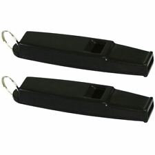 2 x Whistles Referee Coach Sports School Football Rugby Dog Training - Black