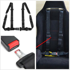1 Pcs Black Nylon 4-Point Cars Autos Seat Belt Seatbelt Buckle Harness Strap Kit