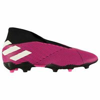 adidas Kids Boys Nemeziz 19.3 Laceless Junior FG Football Boots Firm Ground Mesh