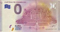 BILLET 0  EURO CHATEAU DE CHAMBORD N° 2  FRANCE  2015  NUMERO 100