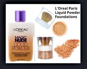L'Oreal Magic Nude Liquid Bare Skin Powder, True Match Mineral Powder Foundation