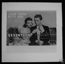Glass Magic Lantern Slide SEVENTEEN FILM CINEMA ADVERT 1950 JACKIE COOPER