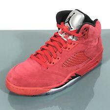 New Nike Air Jordan 5 Retro V Red Suede Flight Suit 136027-602 Mens Size 10