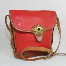 DOONEY & BOURKE Brown and Beige Leather Vintage Crossbody Bag