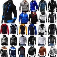 Men Winter Hoodie Jacket Sweater Coat Baseball Jacket Hooded Sweatshirt Outwear
