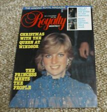 Royalty Monthly Magazine Issue No 6 December 1981. Princess Diana
