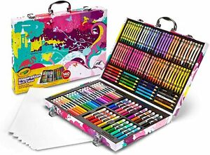 Crayola Inspiration Art Case Coloring Set, Gift for Kids Age 5+, Pink, 140 C