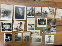 Lot of 20 WWII Found Photos US Soldier in Philippians Military Uniform People