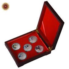 WR 2017 Chirstmas 1oz SILVER Coins Set Santa Claus Elk Xmas Gifts /w Wooden Box