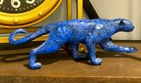 RARE Vintage Paper Mache Panther Jaguar Signed & Dated by Artist Peter Pere 2003