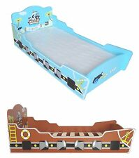 Kiddi Style Childrens Pirate Ship / Boat Wooden Junior Bed Childs Kids Cotbed