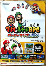 Mario And Luigi Superstar Saga RARE 3DS 51.5 cm x 73 cm Japanese Promo Poster #2
