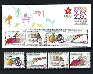 China Hong Kong 2021 Game of  XXXII Olympiad Japan Tokyo 2020 Stamp set Olympic