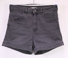T54-13 H&M Extra High Waist Jeans Hot Pants Shorts Stretch Denim schwarz Gr. 36
