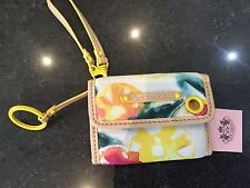 NWT Juicy Couture New & Gen. Coloured Nylon Credit Card Wallet With Juicy Logo