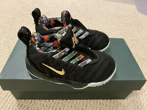 Lebron James 🏀XVI Toddler Kids Boys Sneakers Shoes Gold Nike 7c 🏆 NBA Baby